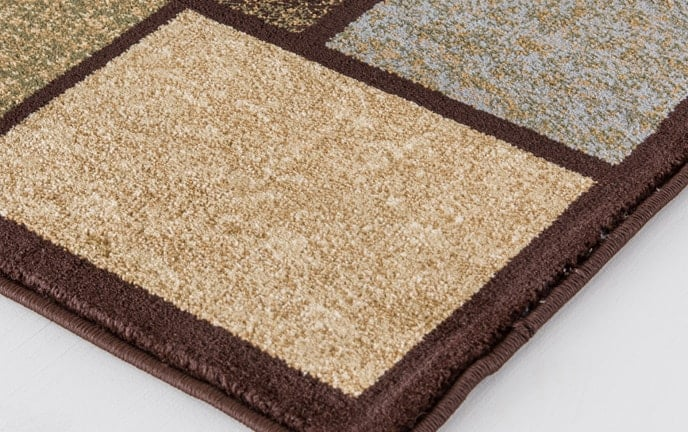 Boxes Brown Rug