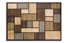 """Boxes 3'3"""" x 5'3"""" Brown Rug"""