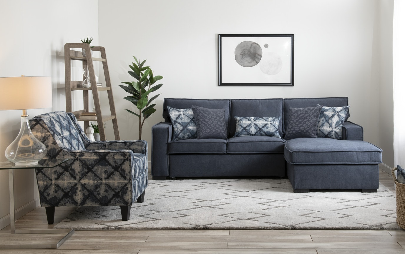 Playscape Denim Left Arm Facing Sectional