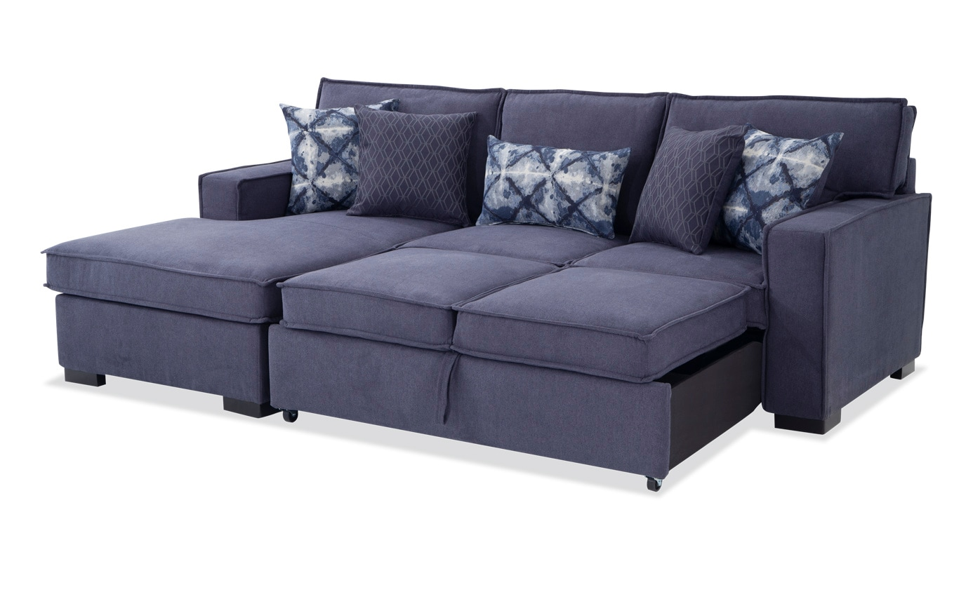 Playscape Denim Right Arm Facing Sectional