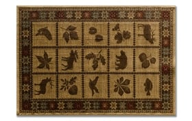 Cabin Squares 3'3 x 5'3 Rug