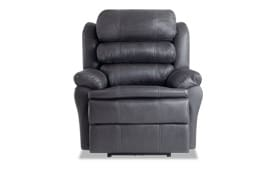 Leather Bob-O-Pedic Gray Power Recliner