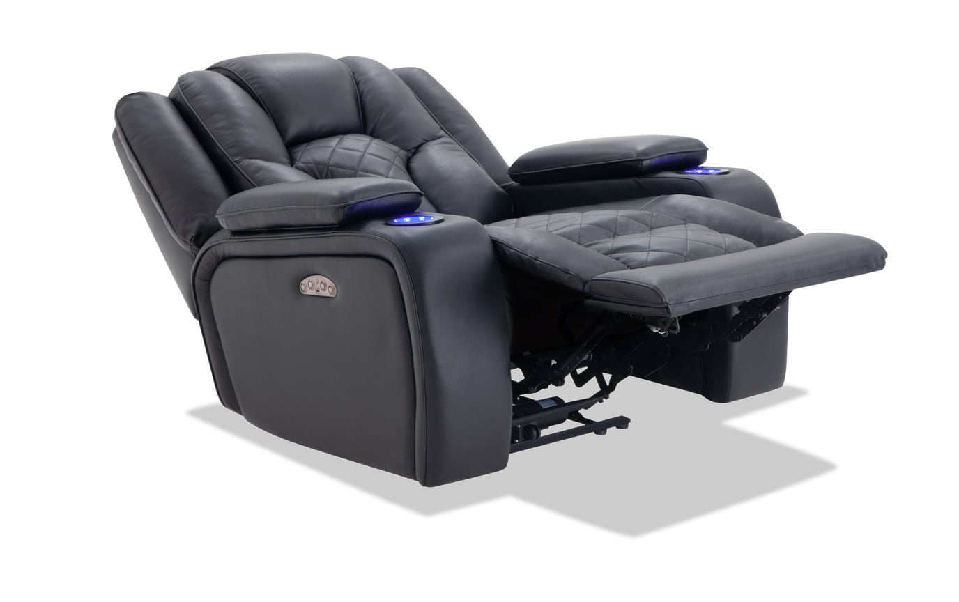 Panther Leather Power Recliner Bobs Com