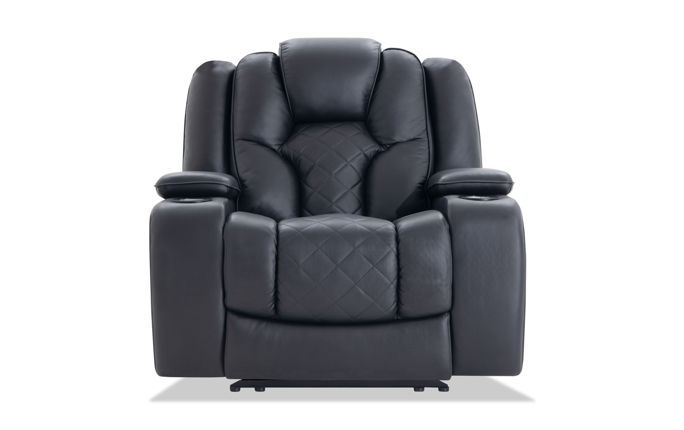 Awe Inspiring Panther Leather Power Recliner Bralicious Painted Fabric Chair Ideas Braliciousco