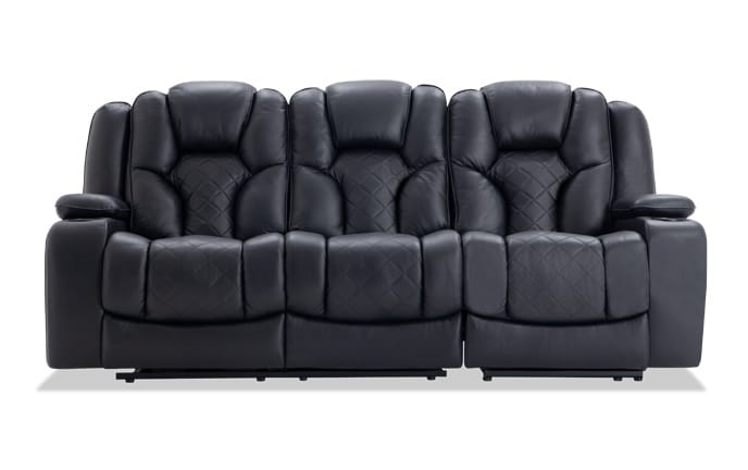 Panther Leather Dual Power Reclining Sofa
