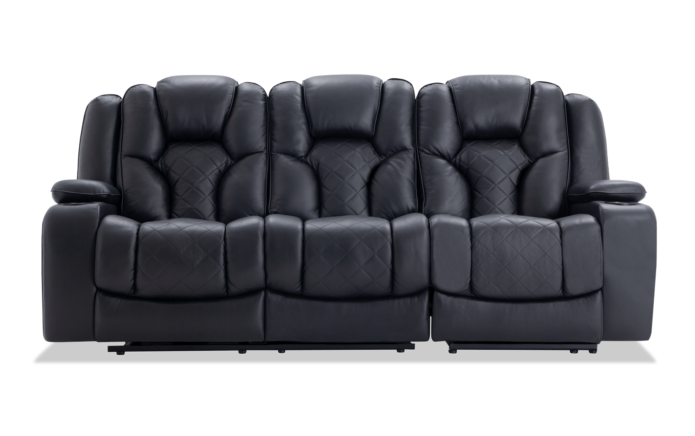 Brilliant Panther Leather Dual Power Reclining Sofa Pabps2019 Chair Design Images Pabps2019Com
