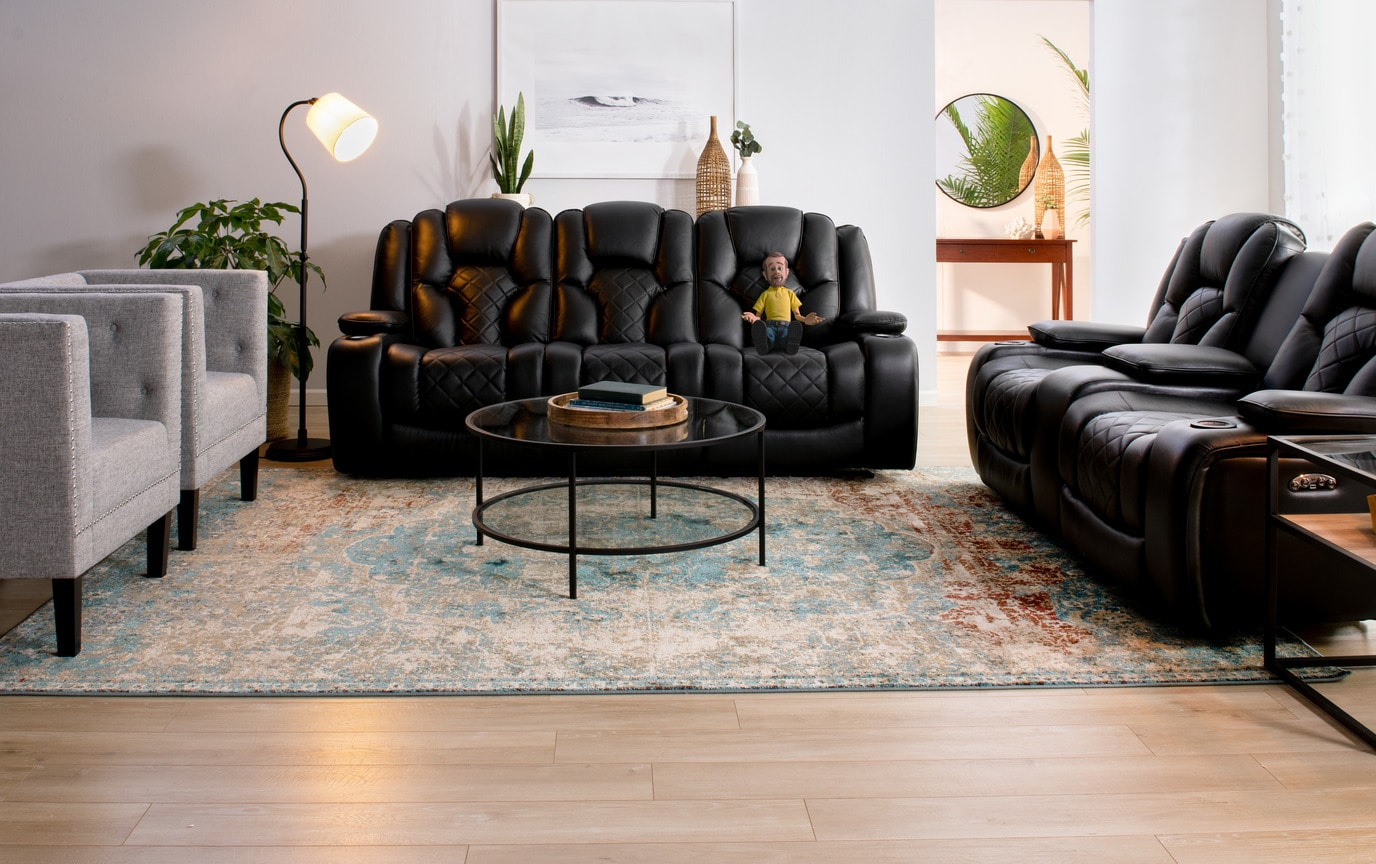 Panther Leather Power Reclining Sofa & Console Loveseat | Bobs.com