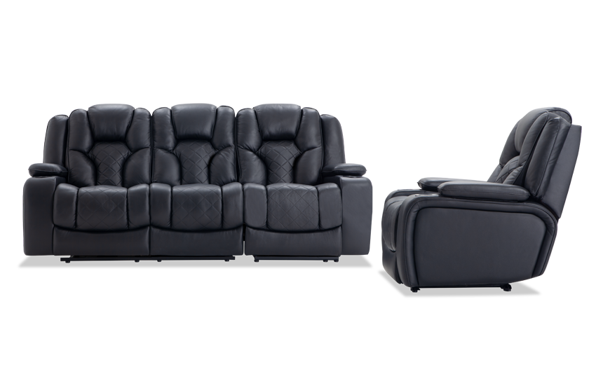 Panther Leather Power Reclining Sofa Amp Power Recliner