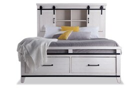 Montana Full White Bookcase Storage Bed