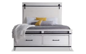 Montana Queen White Storage Bed