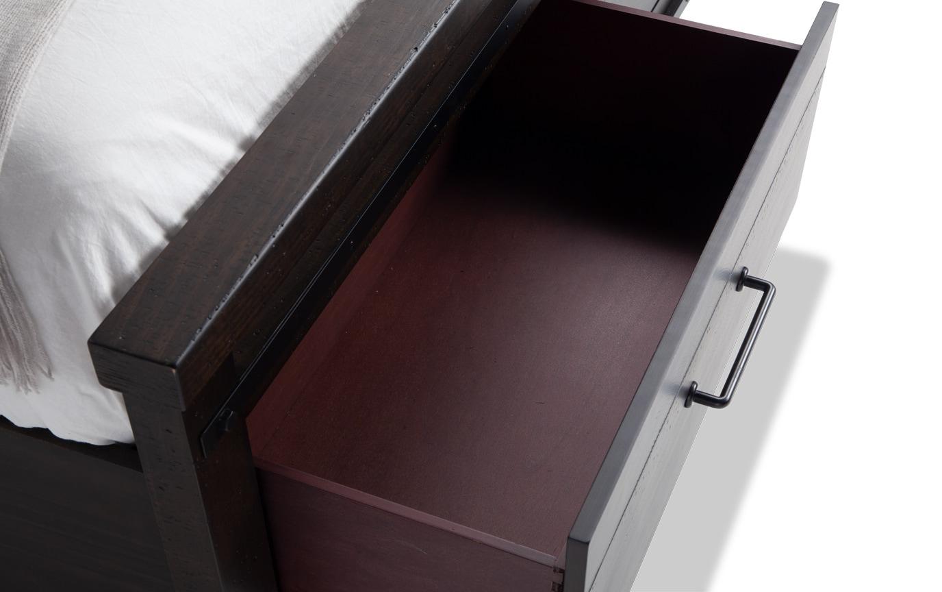 Montana Queen Brown Bookcase Storage Bed