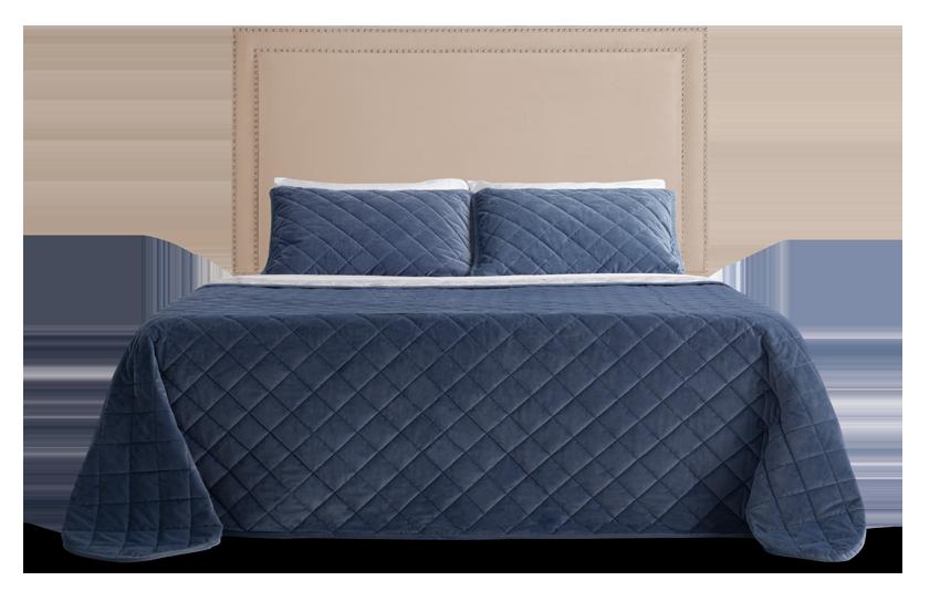 Tremont Full Beige Upholstered Headboard