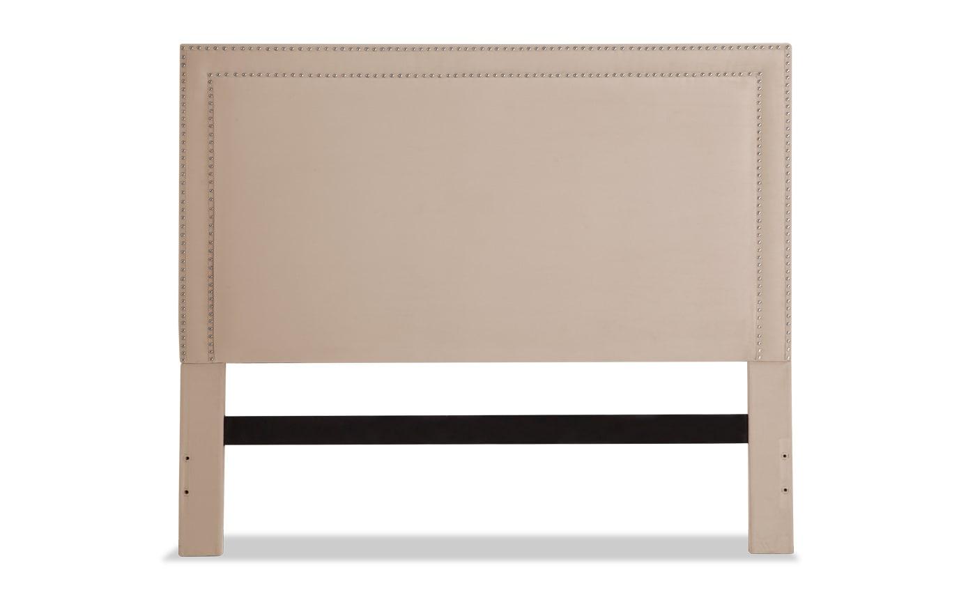 Tremont Twin Beige Upholstered Headboard