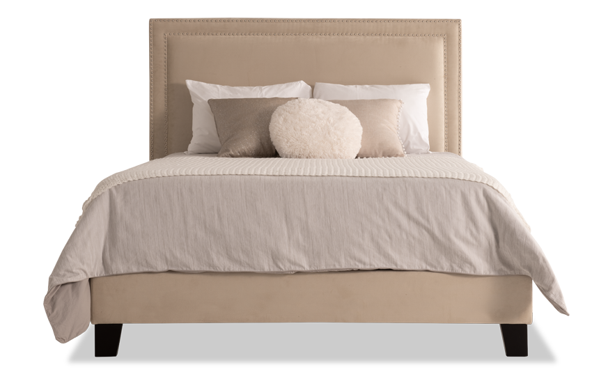 Tremont Twin Beige Upholstered Bed