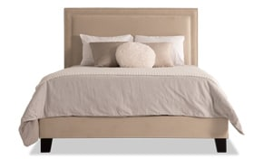 Tremont King Beige Upholstered Bed