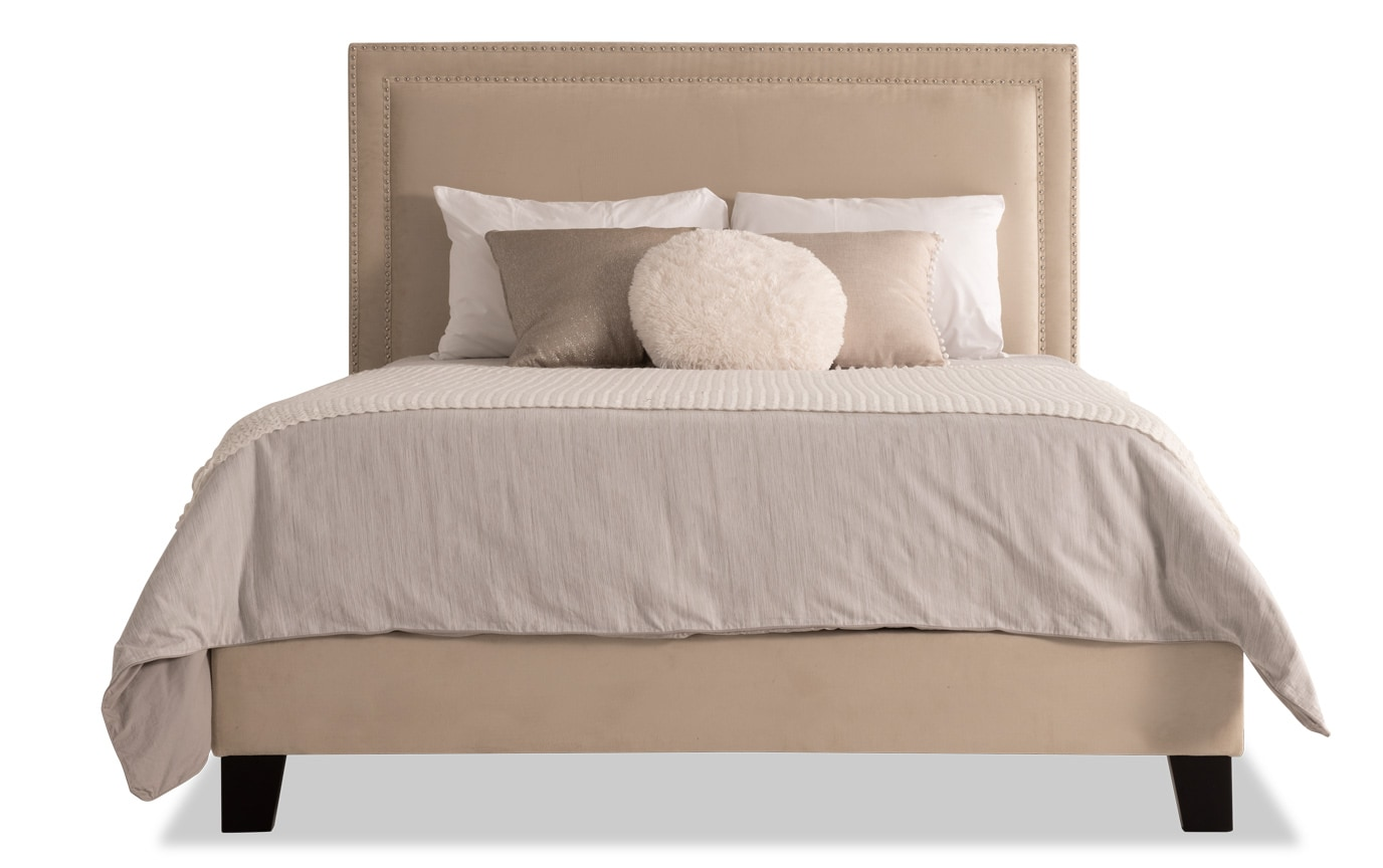 Tremont California King Beige Upholstered Bed