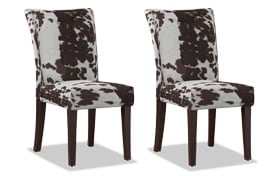 Set of 2 Fawn Brown Chairs