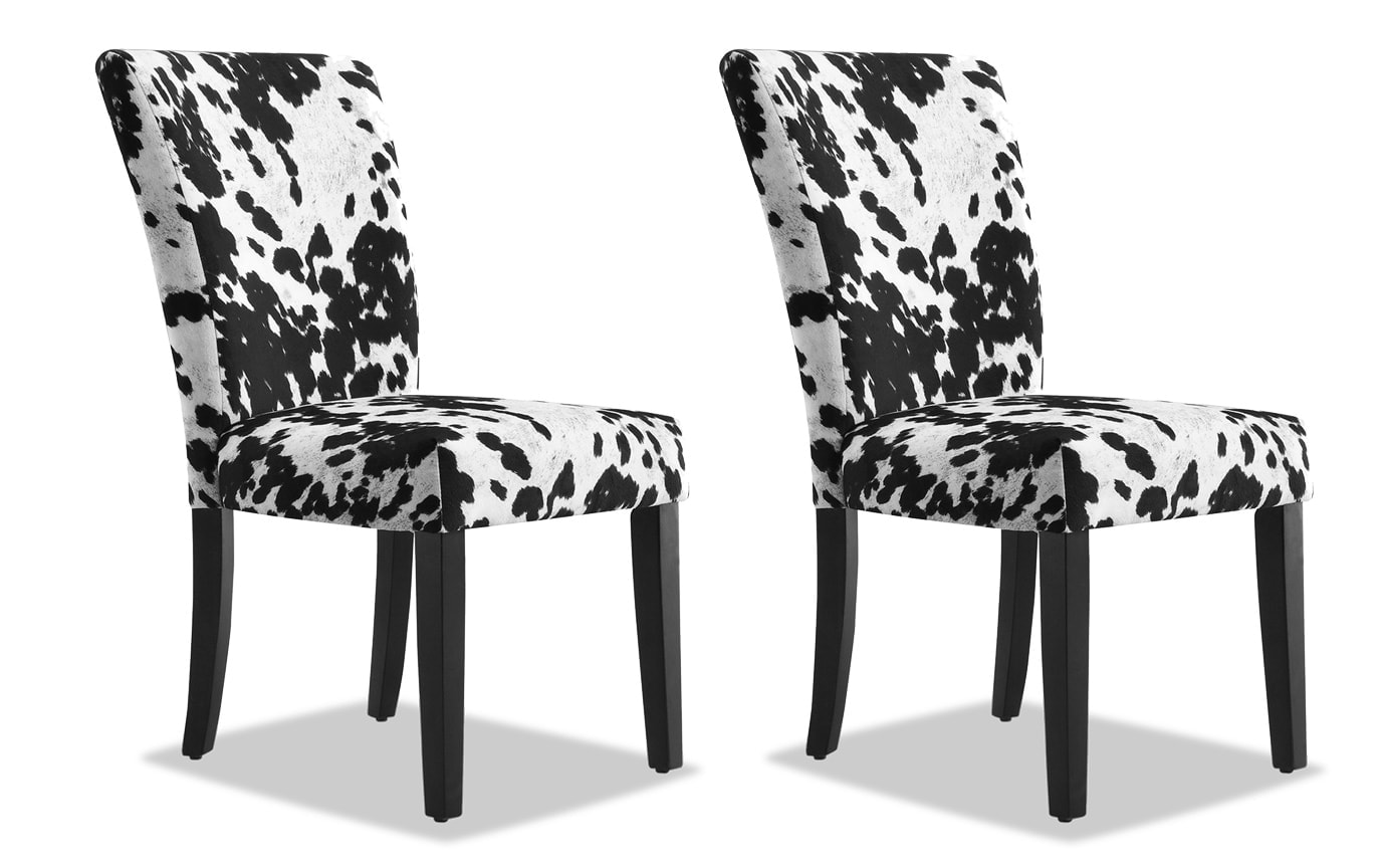 Set of 2 Fawn Black Chairs