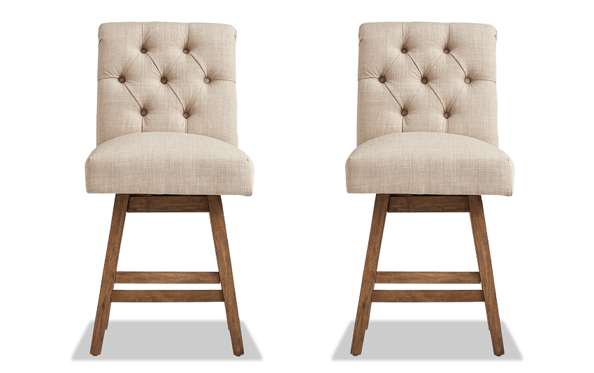 Set of 2 Kara Swivel Stools