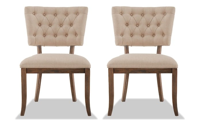 Set of 2 Verna Tufted Dining Chairs