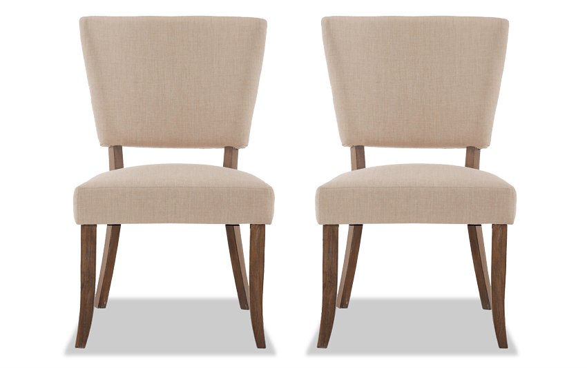 Set of 2 Verna Upholstered Dining Chairs
