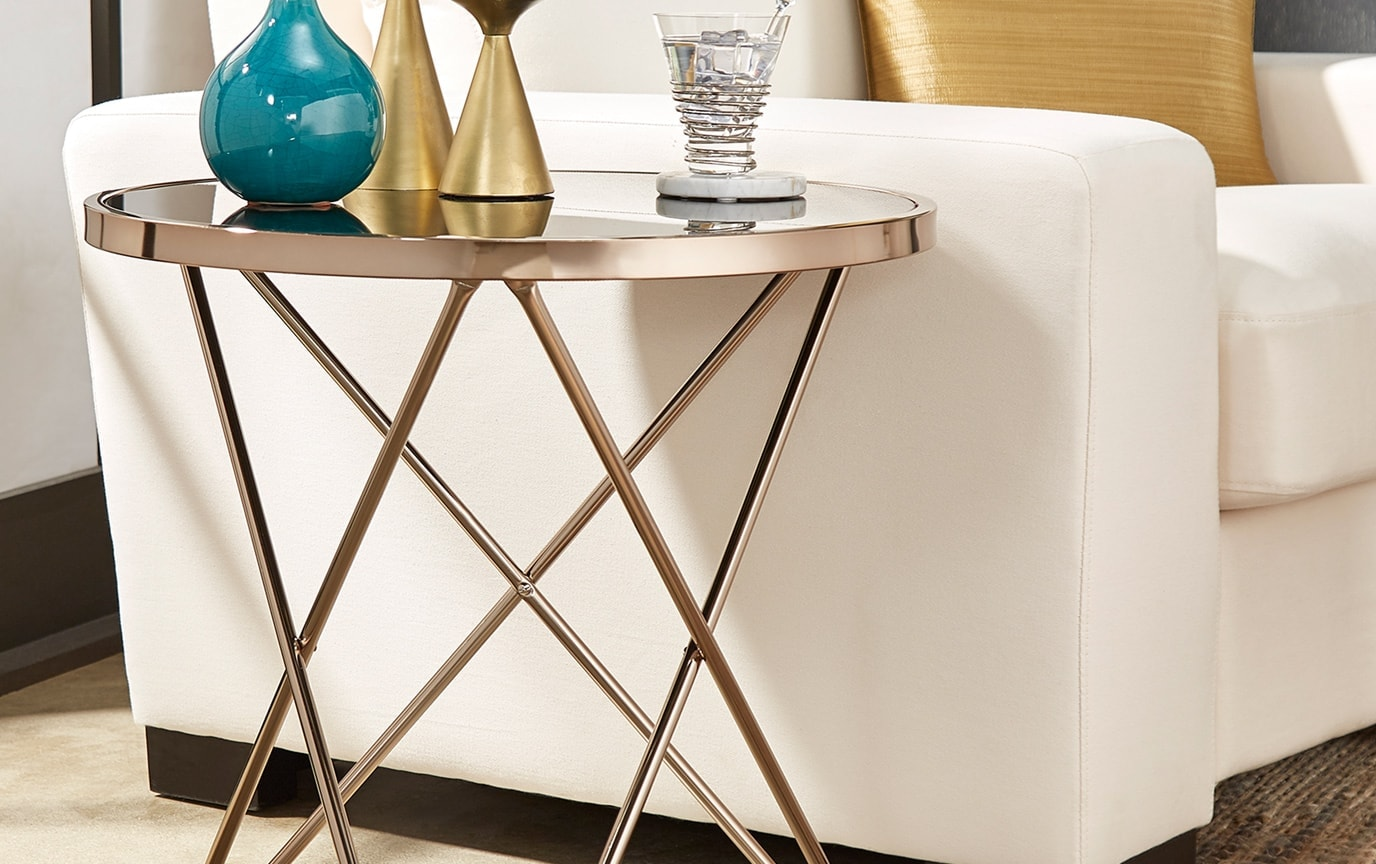 Brett Metal End Table