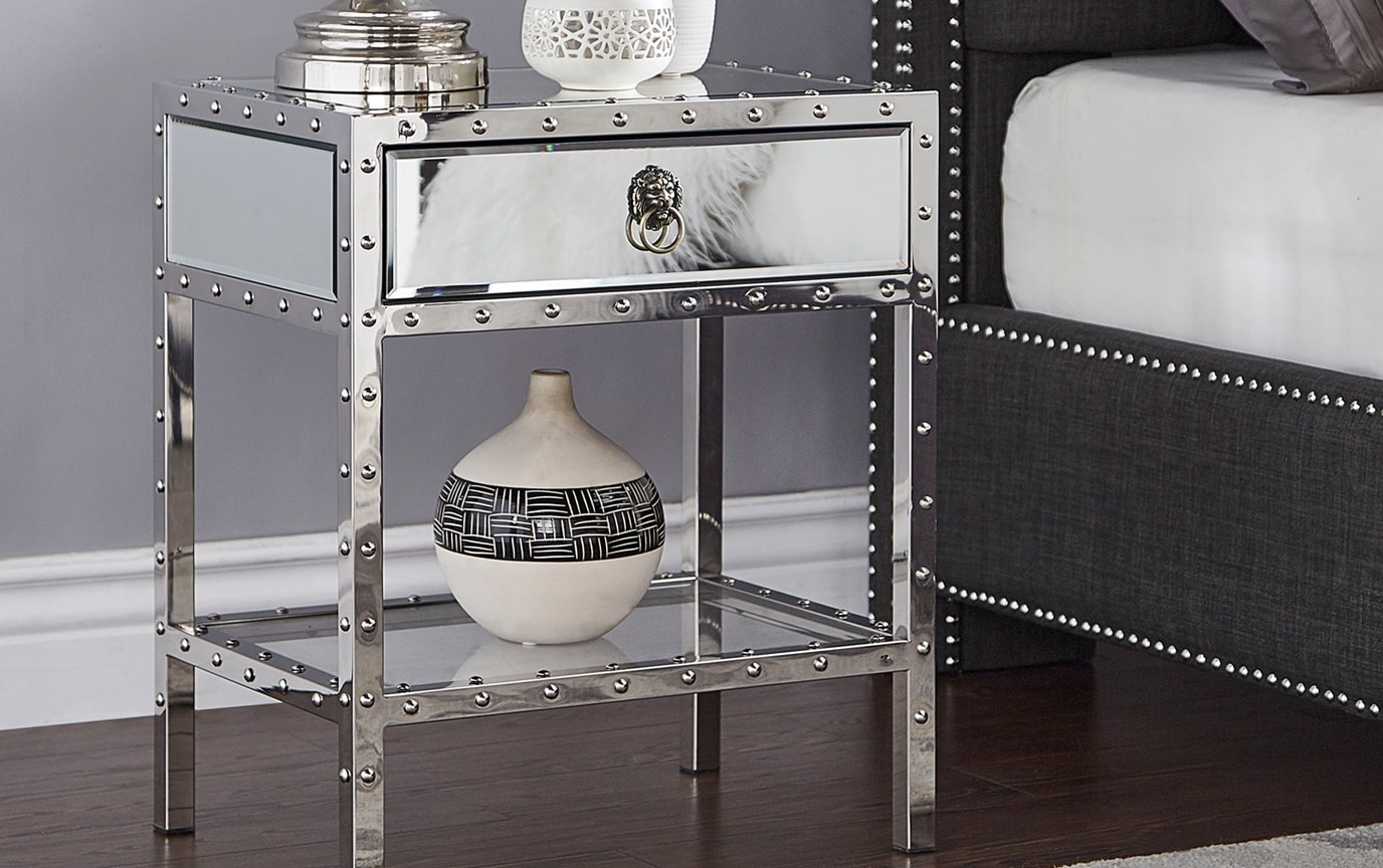 Alexis Mirrored End Table
