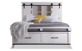 Montana King White Bookcase Storage Bed