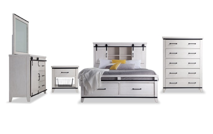 Montana Bookcase Storage Bedroom Set