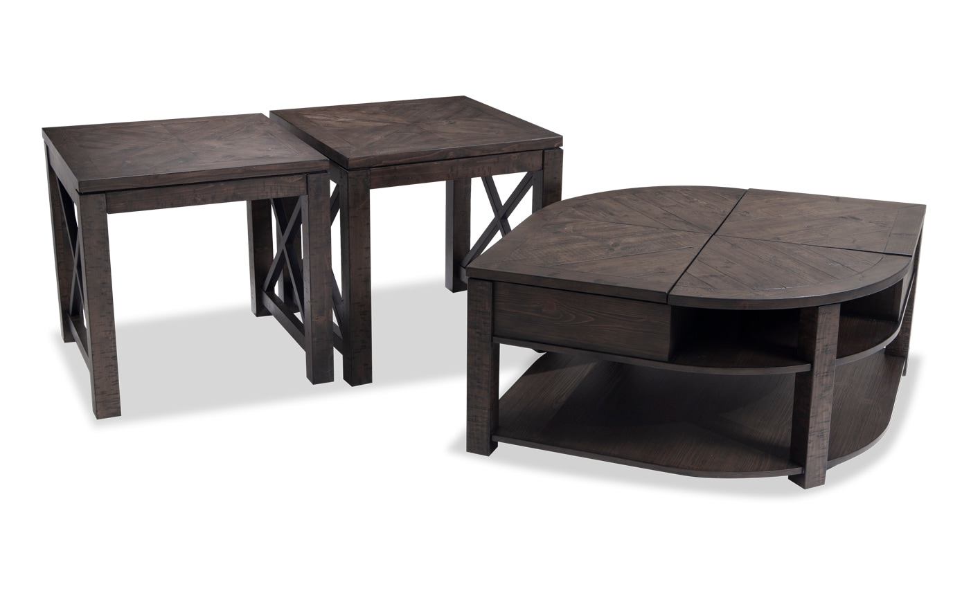 Extreme Lift Top Wedge Coffee Table Set Bobs Com