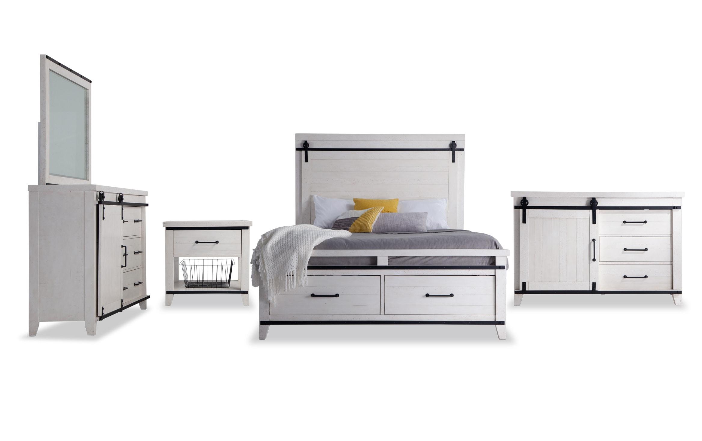 Montana Queen White Storage Bedroom Set Bobs Com
