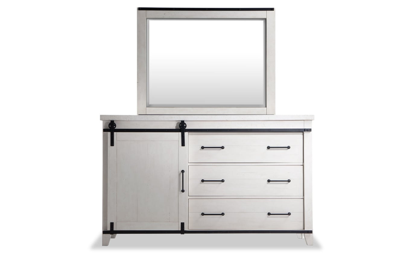 Montana King White Bookcase Storage Bedroom Set