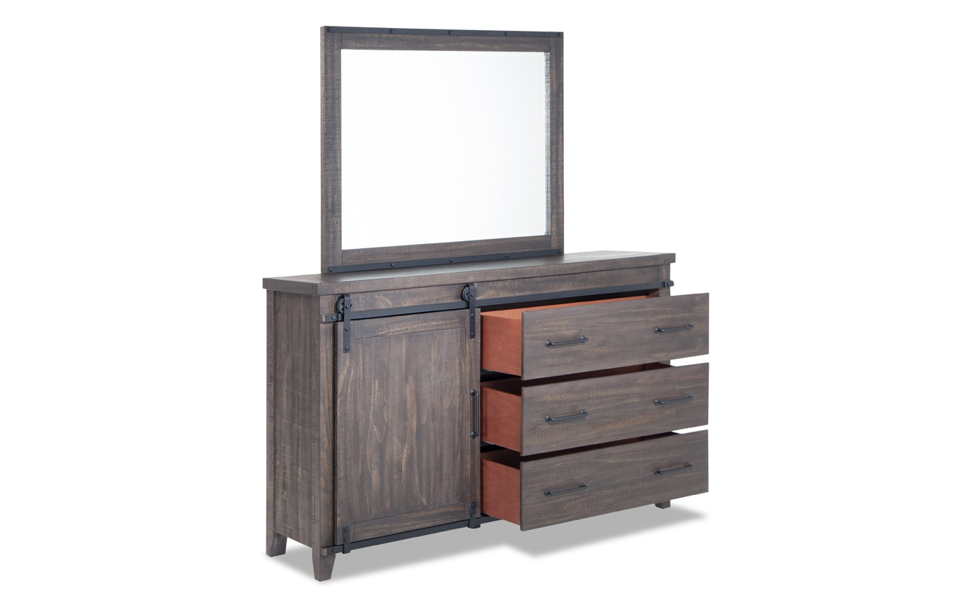 Montana King Brown Bookcase Storage Bedroom Set