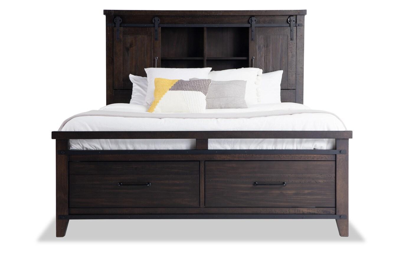 Montana California King Brown Bookcase Storage Bedroom Set