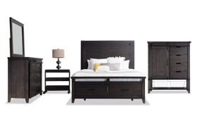 Montana King Brown Storage Bedroom Set