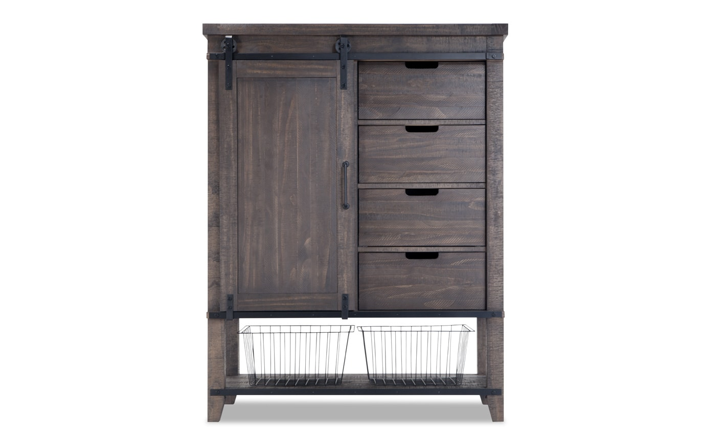 Montana King Brown Bookcase Storage Bedroom Set