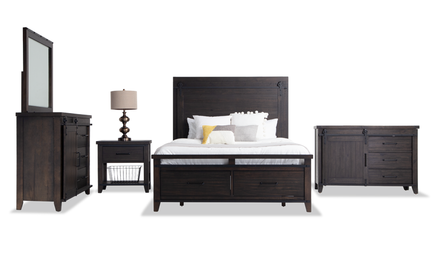 Montana Full Brown Storage Bedroom Set Bobs Com