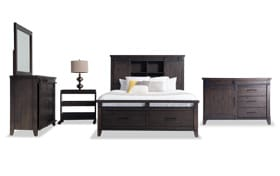 Montana Full Brown Bookcase Storage Bedroom Set