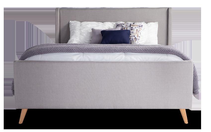 Copenhagen Queen Gray Upholstered Bed