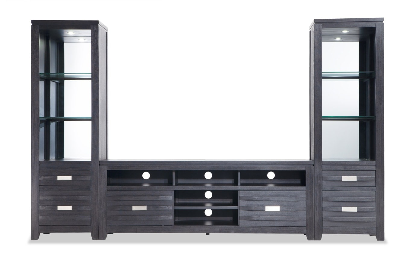 Elevations 3-pc. Wall Unit w/ 60'' TV Console