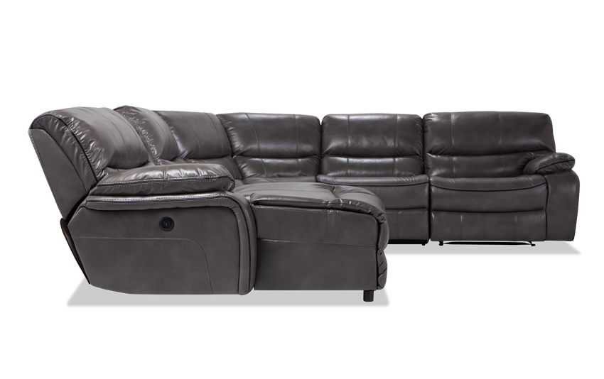 Avenger Gray 6 Piece Power Reclining Right Arm Facing Sectional