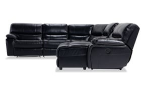 Avenger Black 6 Piece Power Reclining Left Arm Facing Sectional