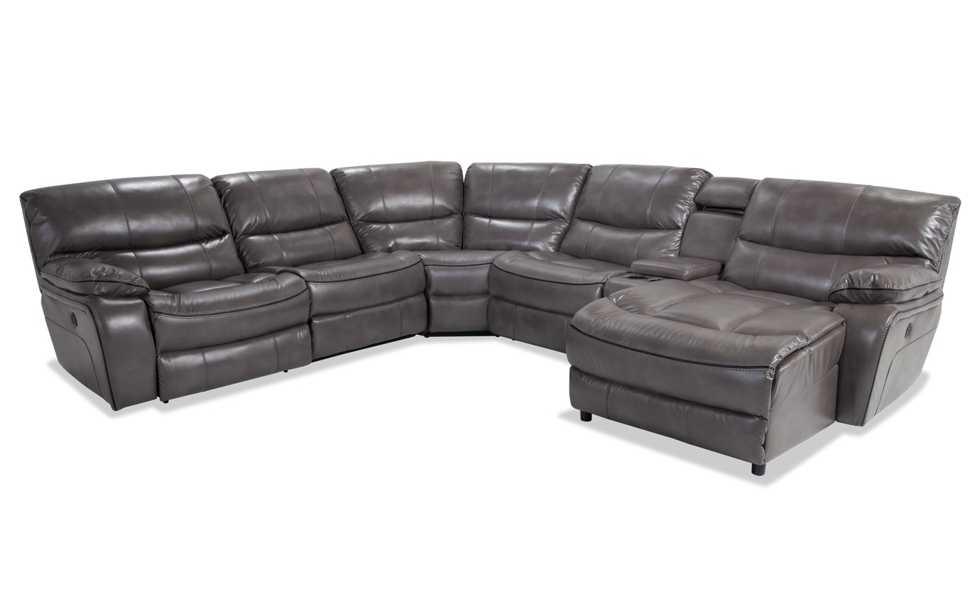 Avenger 6 Piece Power Reclining Left Arm Facing Sectional