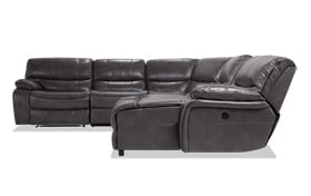 Avenger Gray 6 Piece Power Reclining Left Arm Facing Sectional
