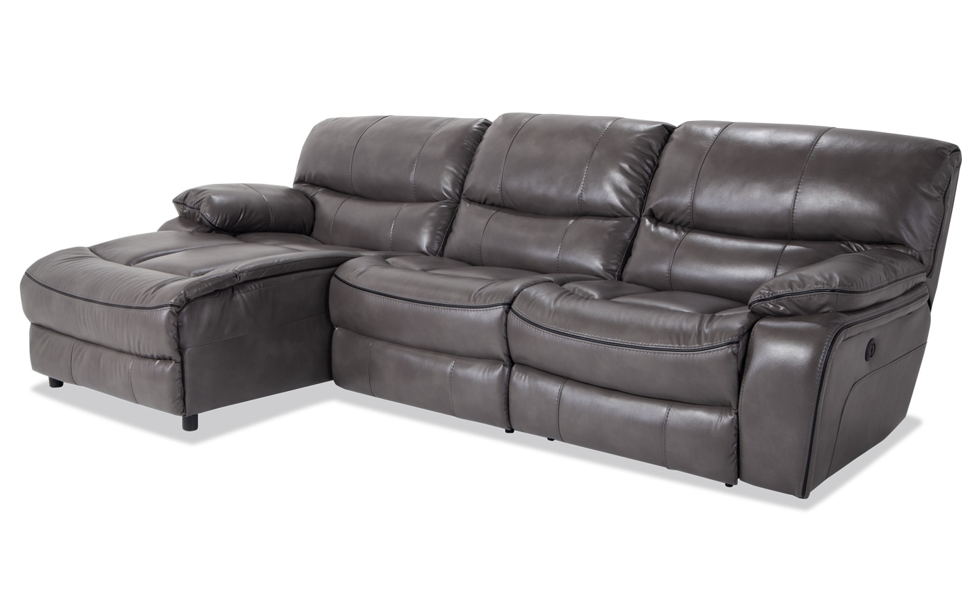 Peachy Avenger 3 Piece Power Reclining Right Arm Facing Sectional Uwap Interior Chair Design Uwaporg