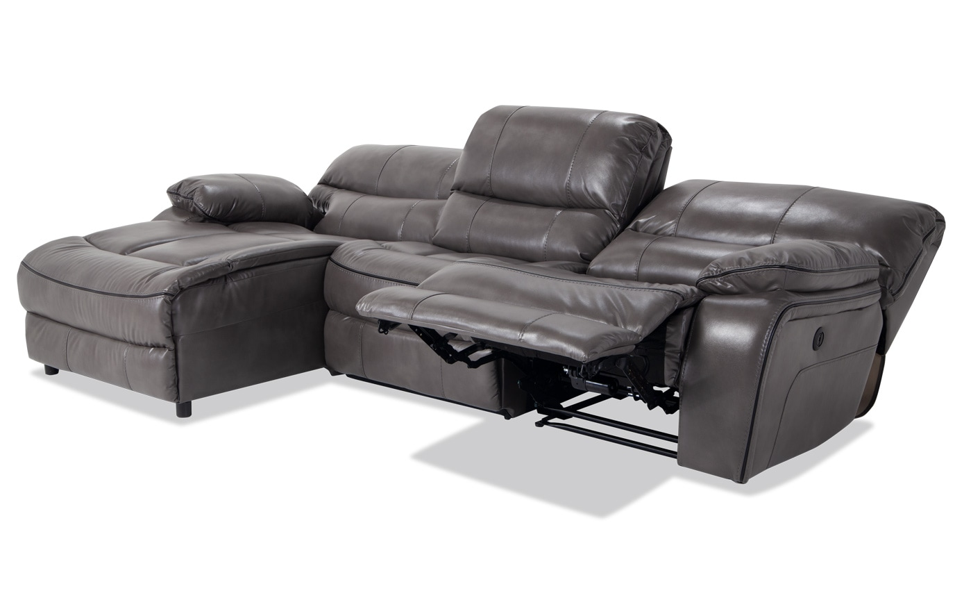 Tremendous Avenger 3 Piece Power Reclining Right Arm Facing Sectional Uwap Interior Chair Design Uwaporg