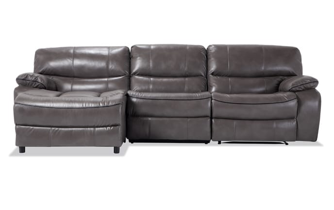 Avenger 3 Piece Power Reclining Right Arm Facing Sectional