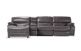 Avenger Gray 4 Piece Power Reclining Right Arm Facing Sectional