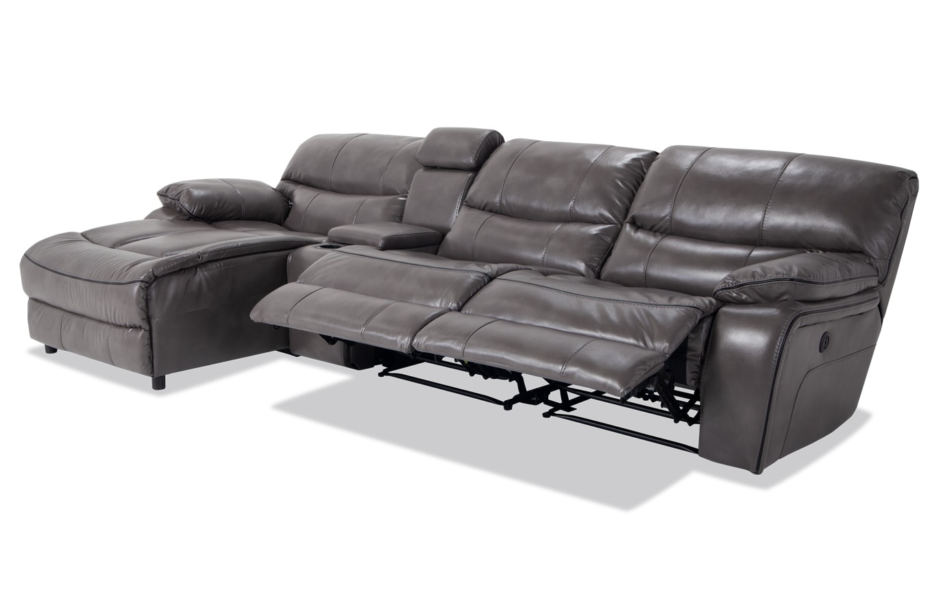 Avenger 4 Piece Power Reclining Right Arm Facing Sectional