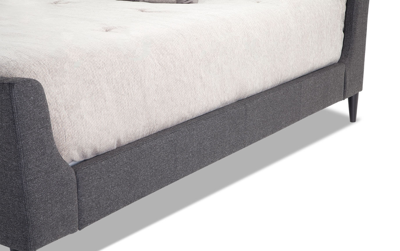 Copenhagen Queen Onyx Upholstered Bed